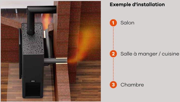 po les bois rika chemin es c line. Black Bedroom Furniture Sets. Home Design Ideas