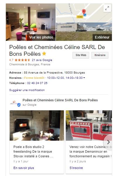 Avis clients de Poeles et Cheminees Celine